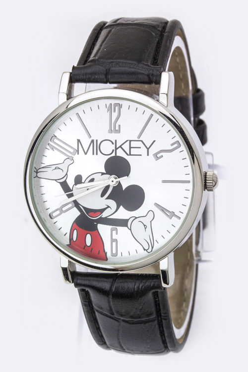 Croc Embossed Classic Mickey Watch
