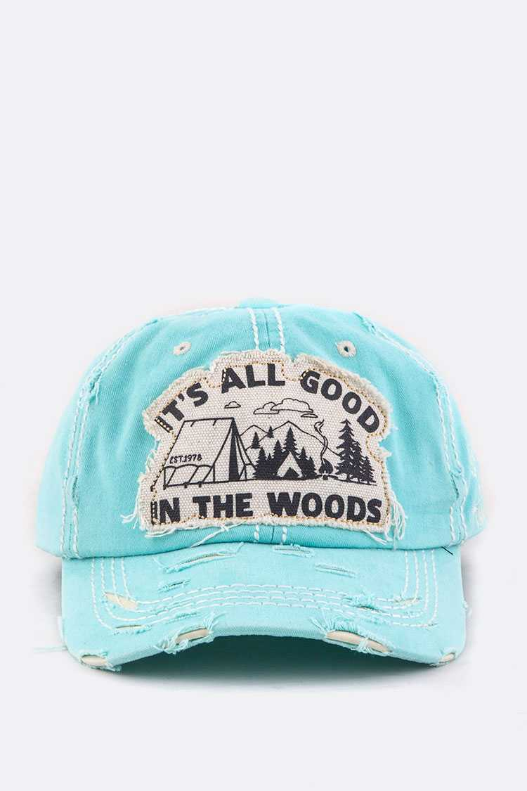 In The Woods Embroidery Cotton Cap