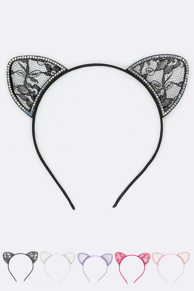 Crystal Lace Ear Iconic Headband Set
