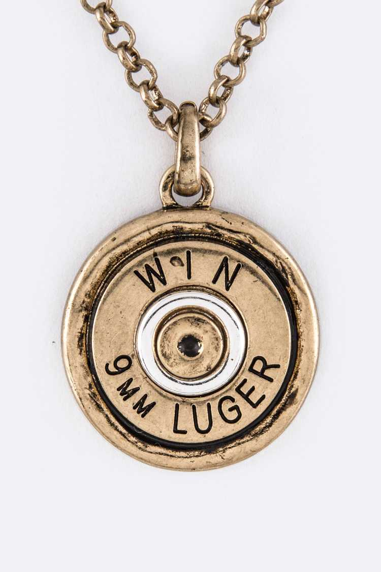 Gun Shell Pendant Necklace