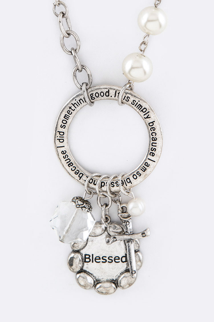 Blessed Mix Cross Charms Necklace