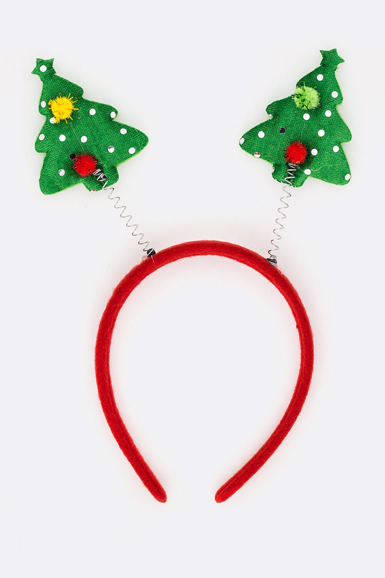 Christmas Tree Spring Headband