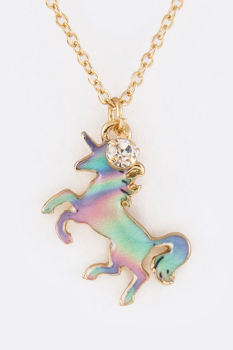 Unicorn Pendant Necklace Set