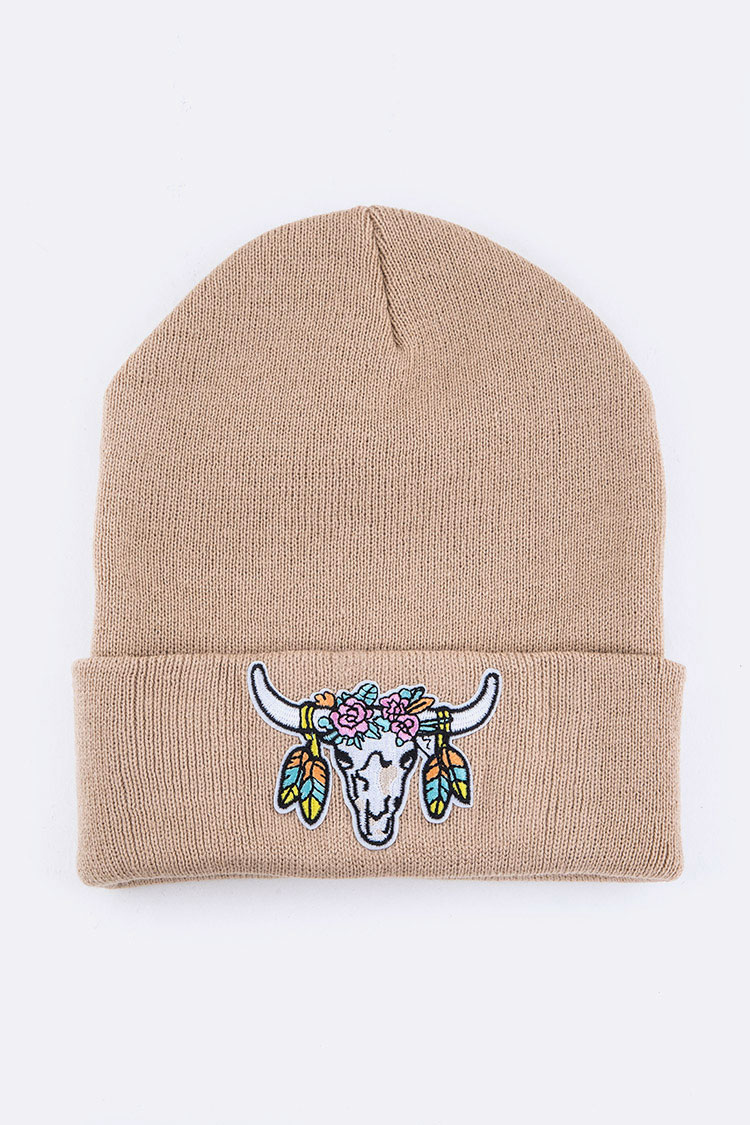 Steer Head Iconic Patch Beanie