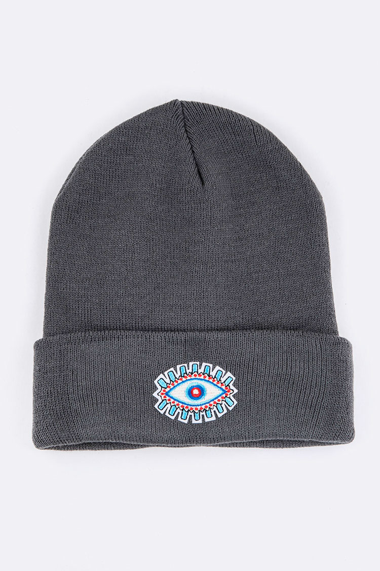 Evil Eye Patch Iconic Beanie