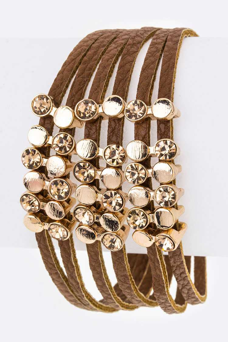Crystal Sliders Layer Cuff