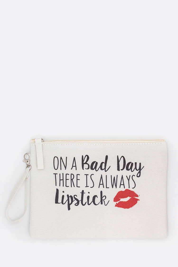 Bad Day Print Canvas Pouch