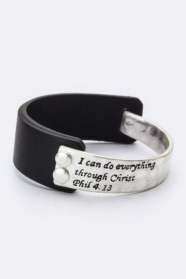 Phil 4:13 Metal Hook Bangle
