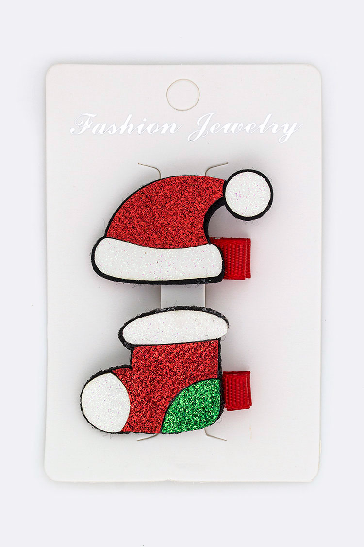 Holiday Iconic Hair Clip Set