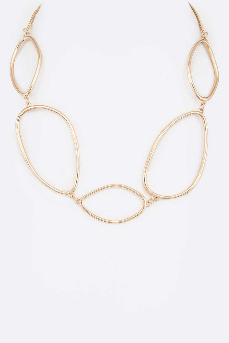 Organic Link Chain Collar Necklace