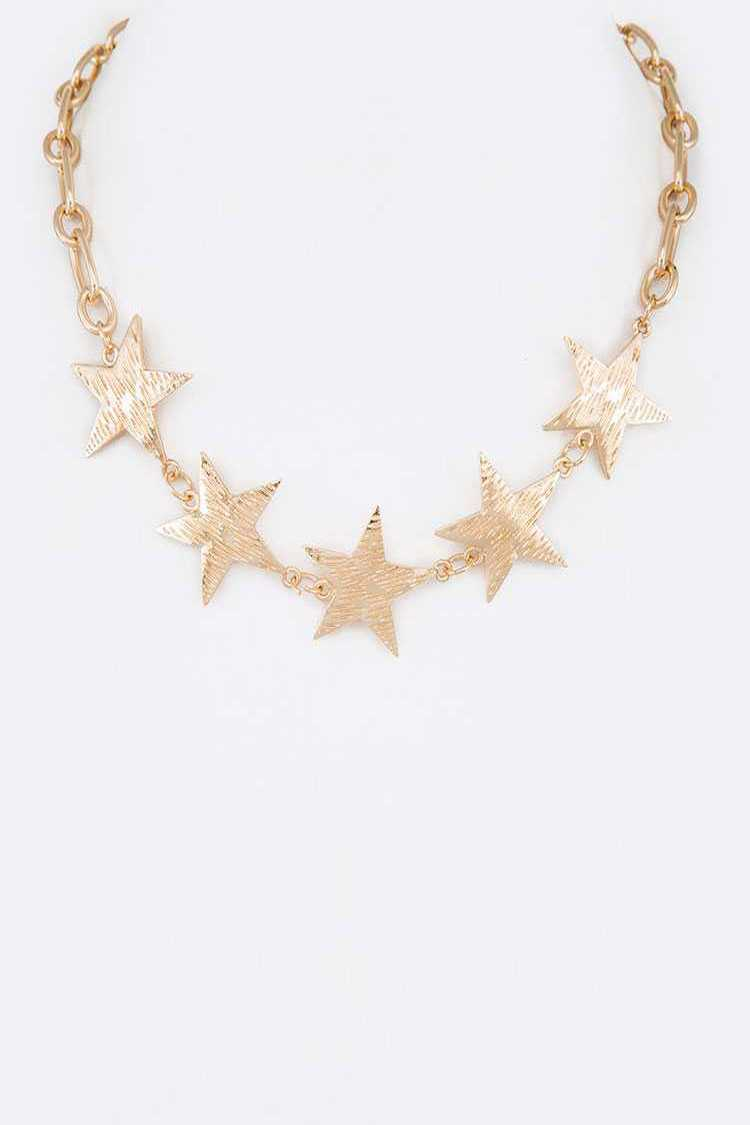 Star Link Collar Necklace