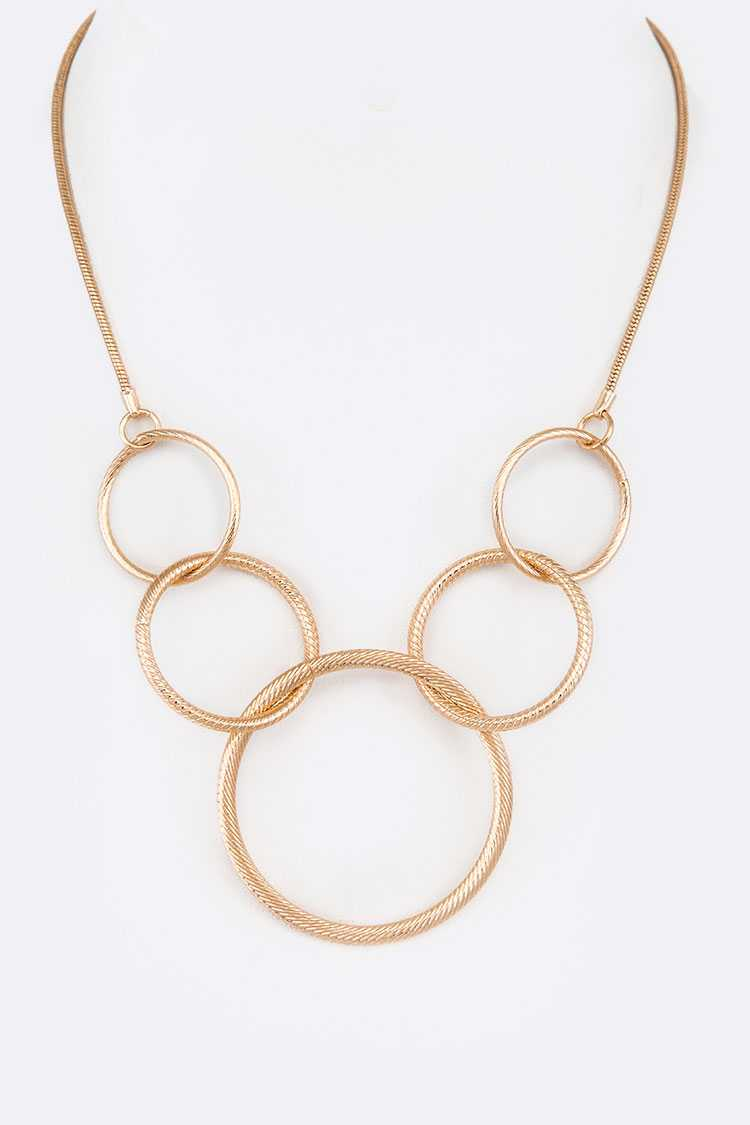 Mix Hoop Link Fashion Necklace