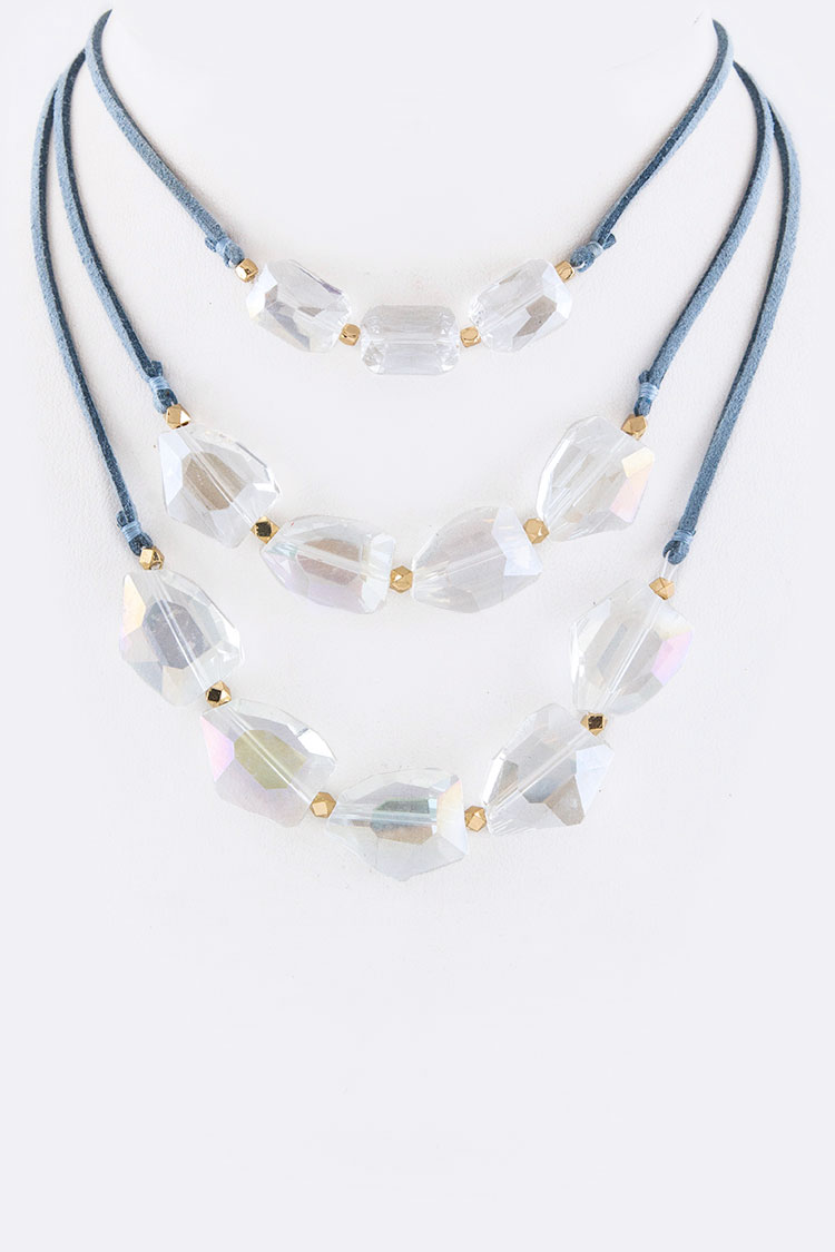 Crystals Layer Necklace