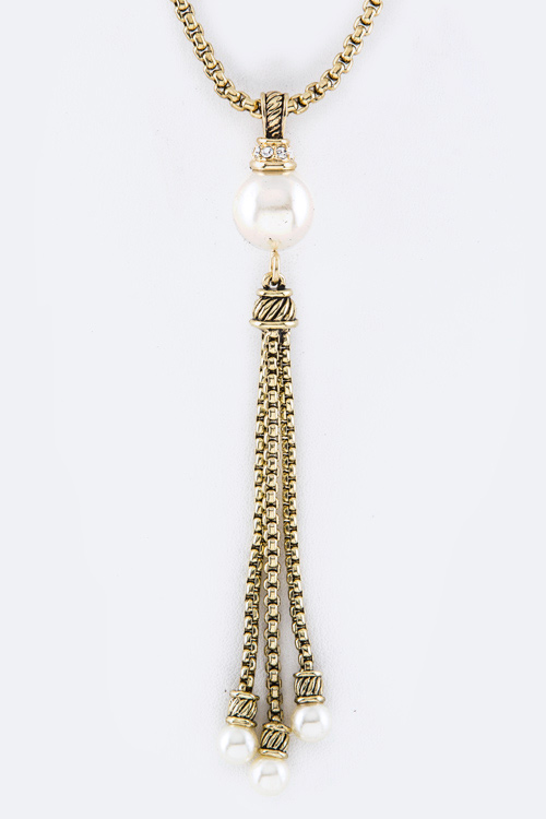Iconic Pearl Tassel Necklace