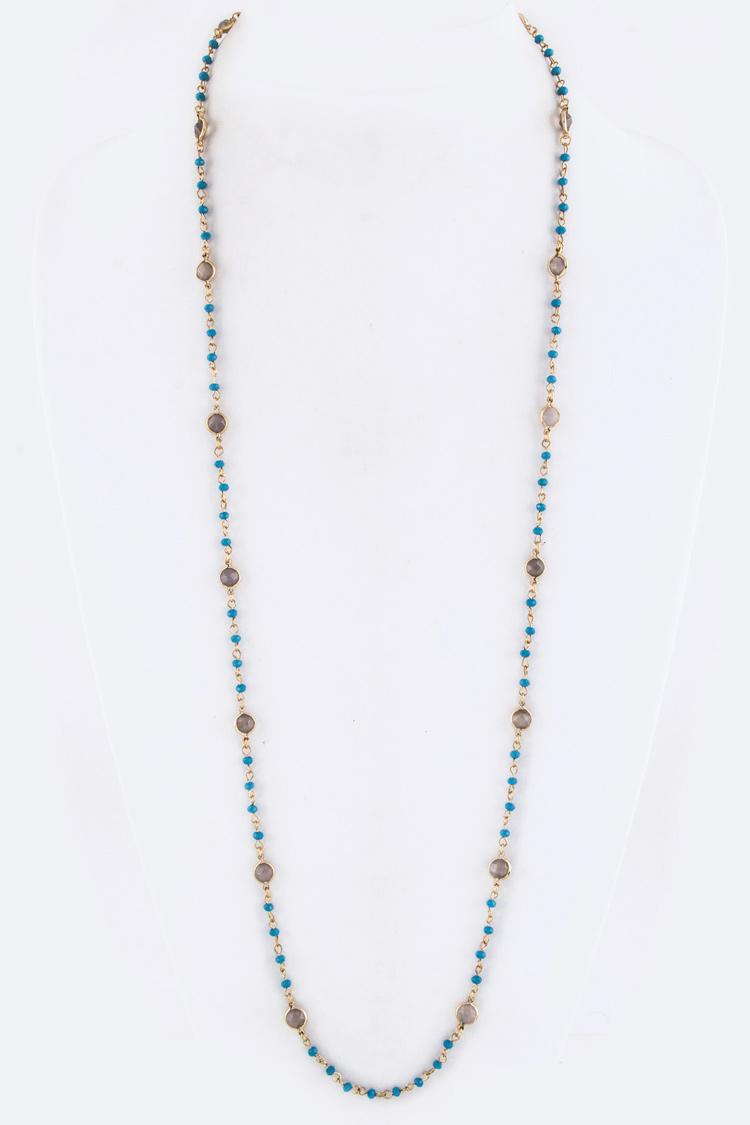 Beads & Crystal Station Necklace