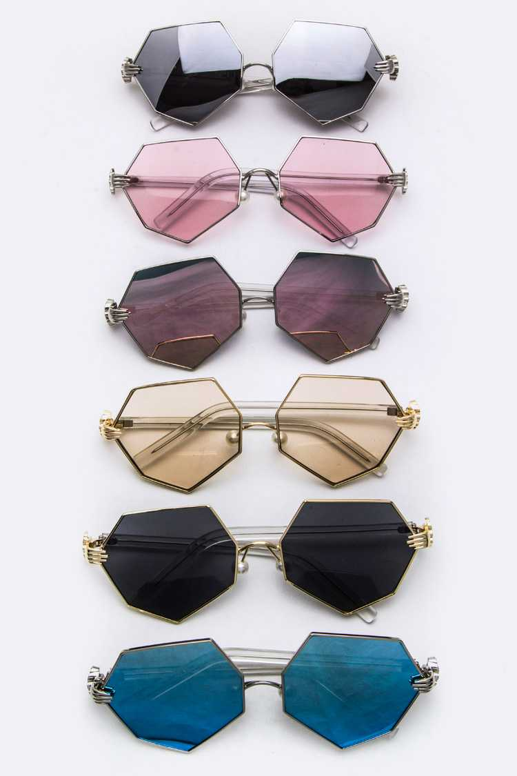 Hand Temples Iconic Angular Sunglasses