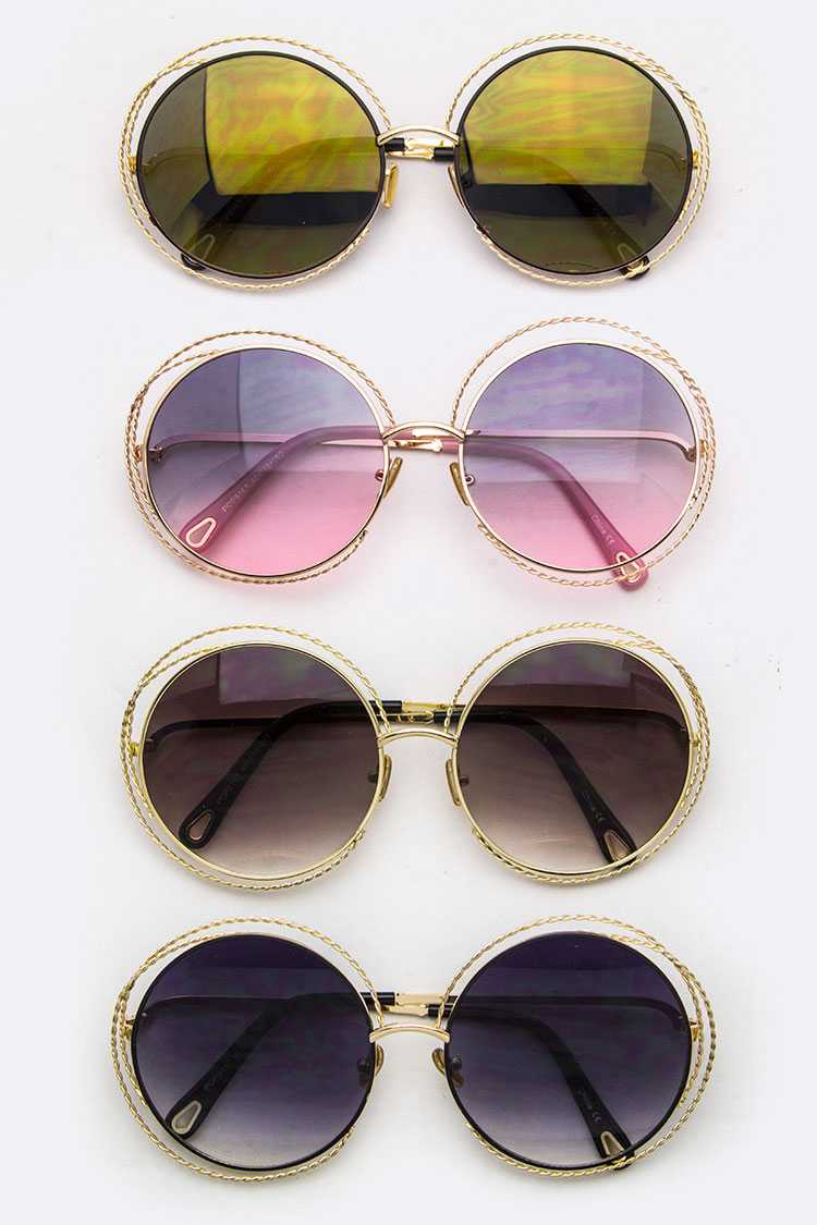 Iconic Rim Round Sunglasses
