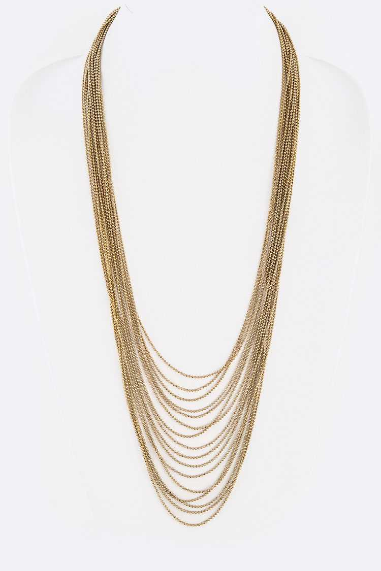 Layer Chain Long Necklace