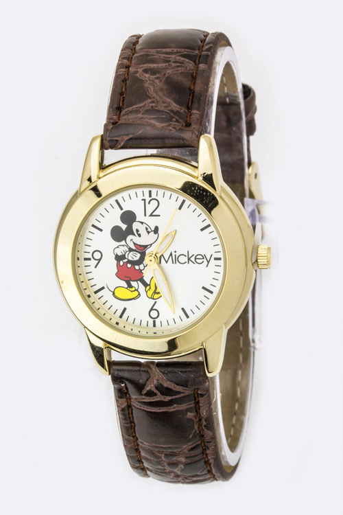Classic Mickey Embossed Strap Watch