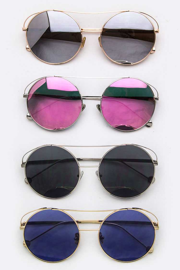 Top-Bar Round Sunglasses