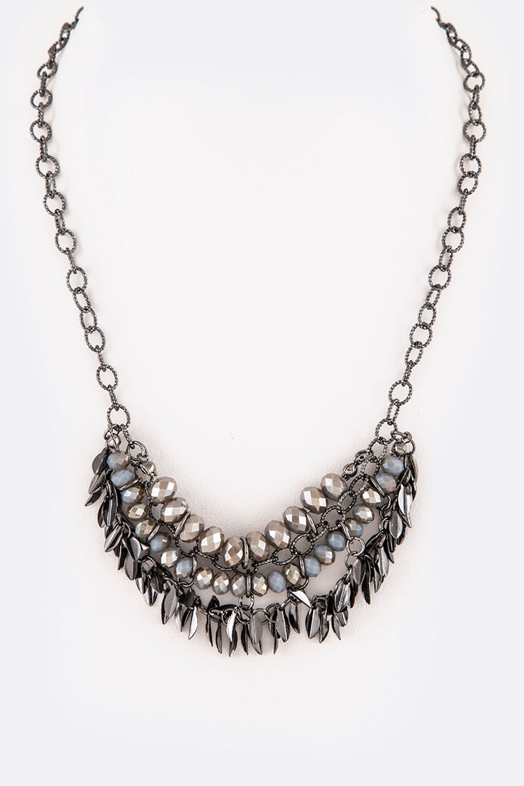Fringe Seeds Iconic Mix Beads Layer Necklace