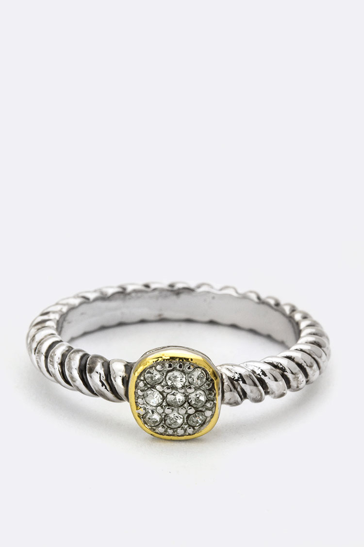 Pave Crystals Ring