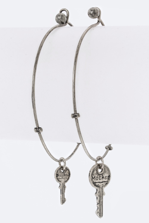 Mother & Daughter Key Bangles Set