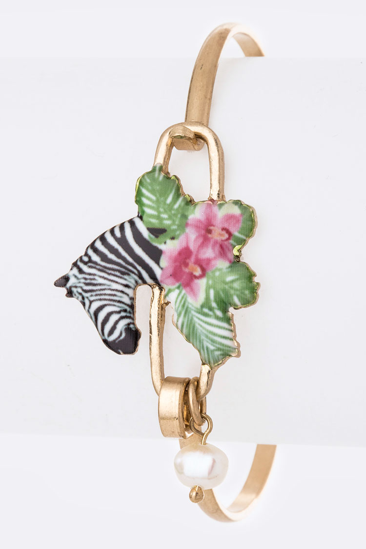 Tropical Zebra Print Iconic Bangle