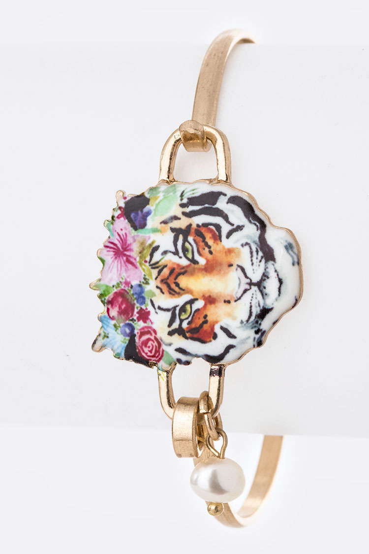 Flower Tiger Print Iconic Bangle