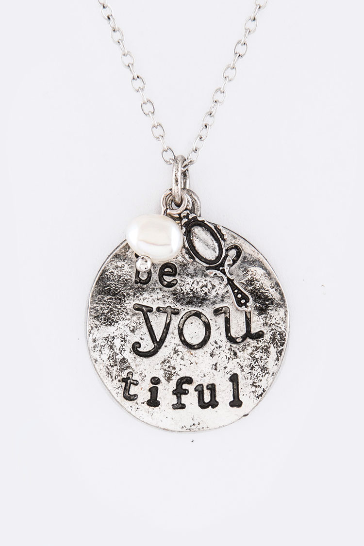Be You Tiful Mix Charms Necklace Set