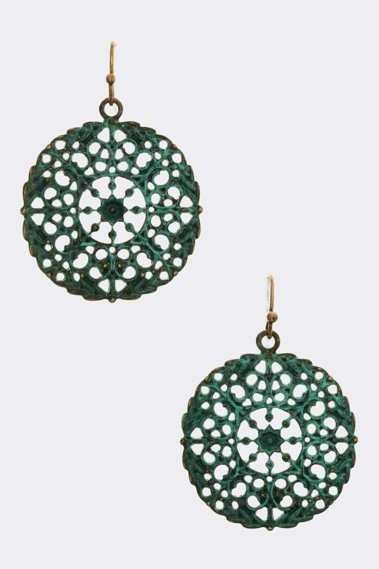 Filigree Wheel Earrings