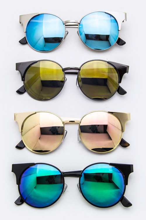 Iconic Frame Round Sunglasses