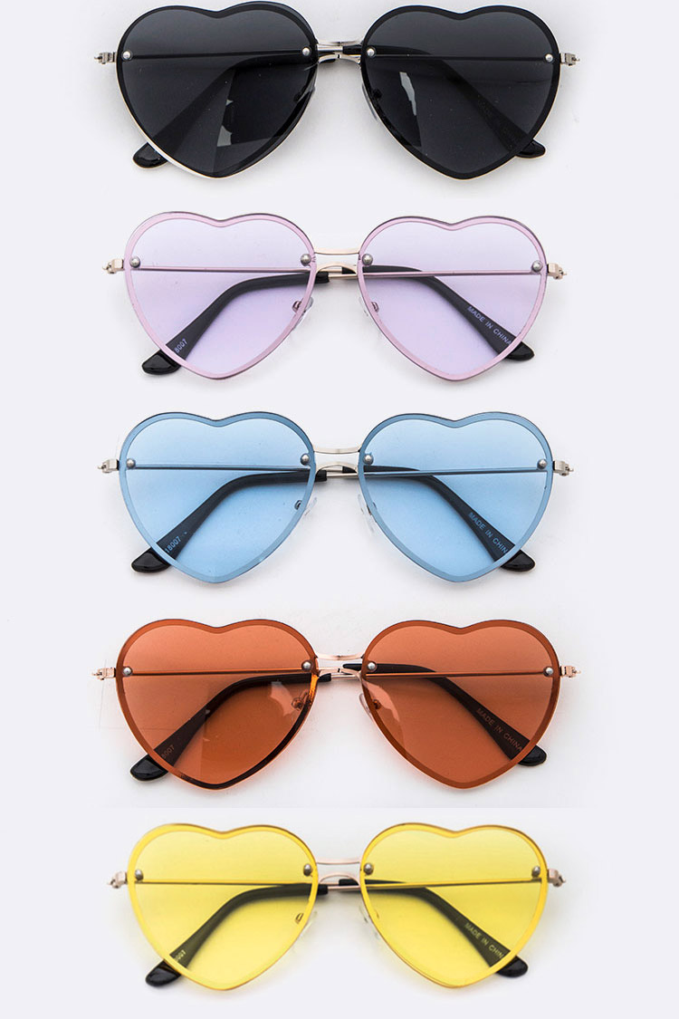 Heart Shape Cutout Iconic Sunglasses