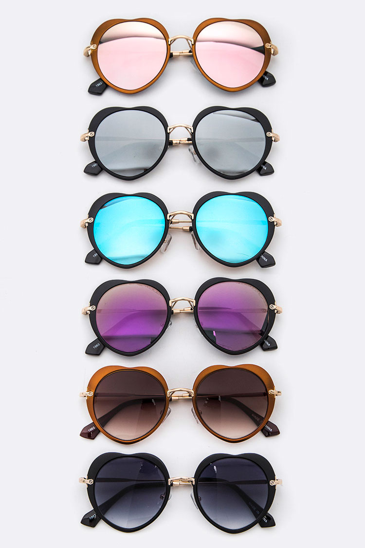 Iconic Heart Shape Fashion Sunglasses