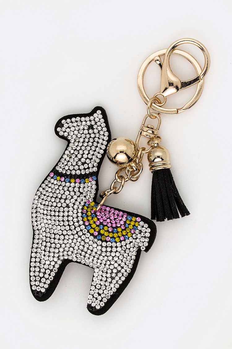 Crystal Llama Iconic Key Chain