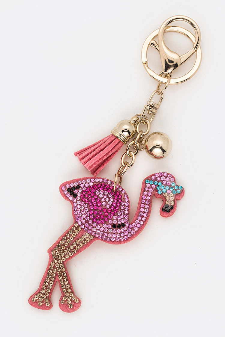 Crystal Flamingo Key Chain