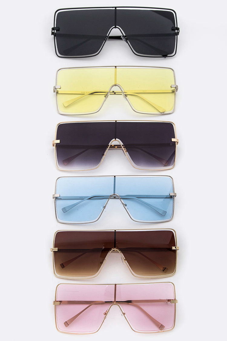 Oversize Squared Shield Sunglasses