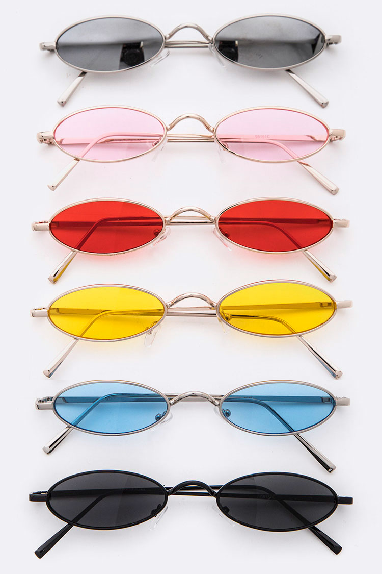 Contrast Color Skinny Shades