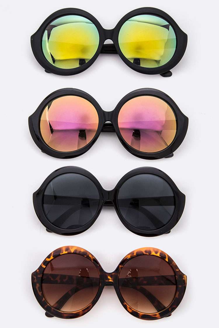 Iconic Color Tint Round Sunglasses