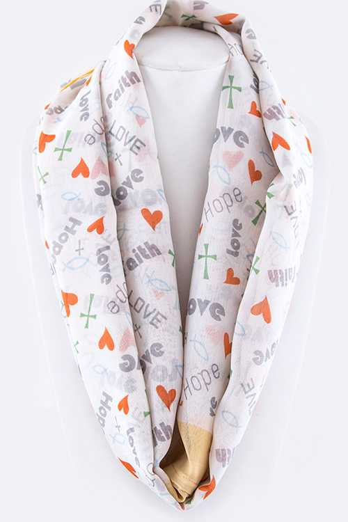 Faith, Hope & Love Fashion Infinity Scarf