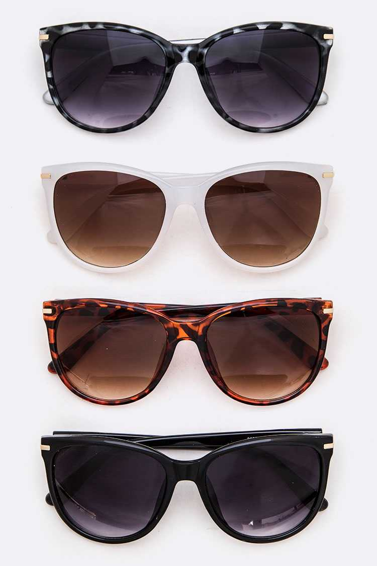 Classic Cat Eye Sunglasses Set