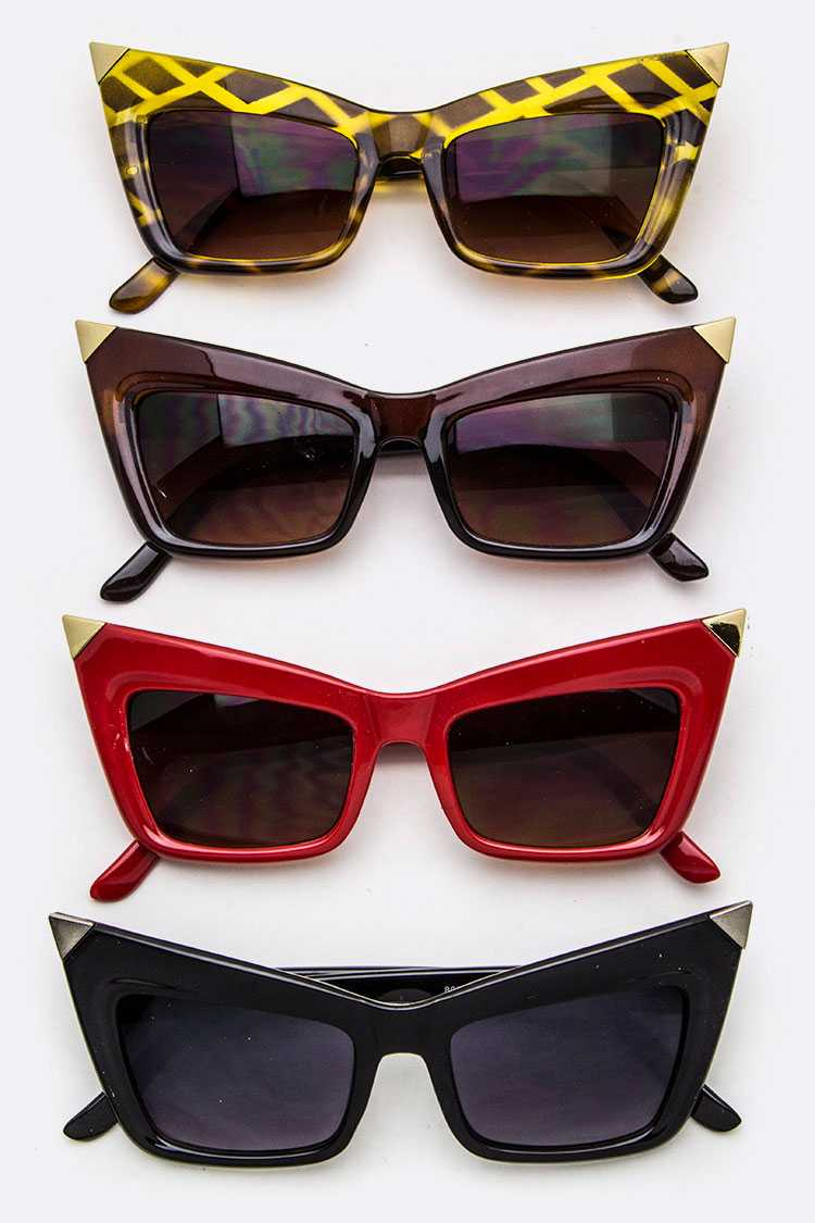 Iconic Angular Frame Sunglasses