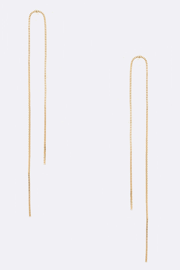 Chain Pull Through Earrings