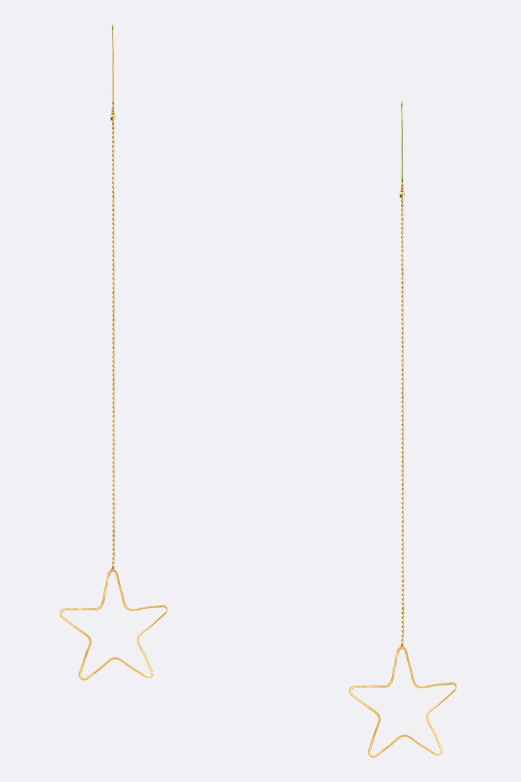 Iconic Star Long Drop Earrings