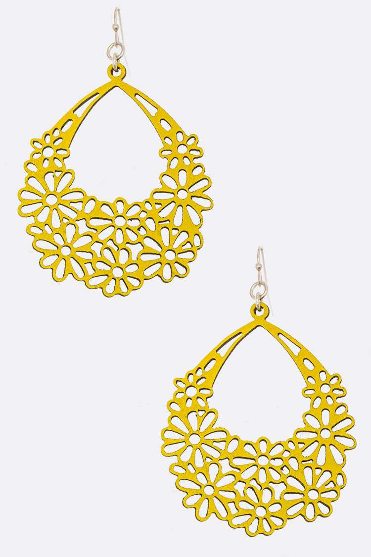 Cutout Leather Iconic Earrings