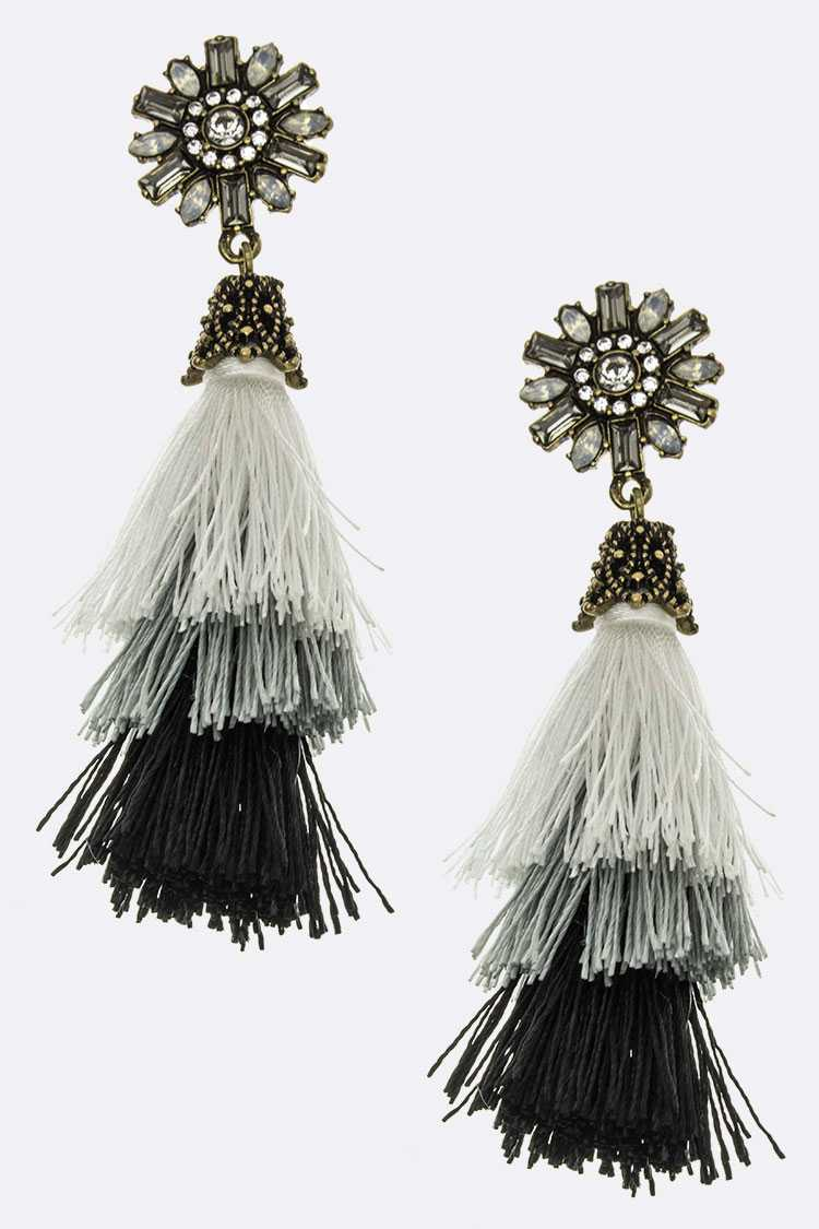 Layer Tassel Earrings