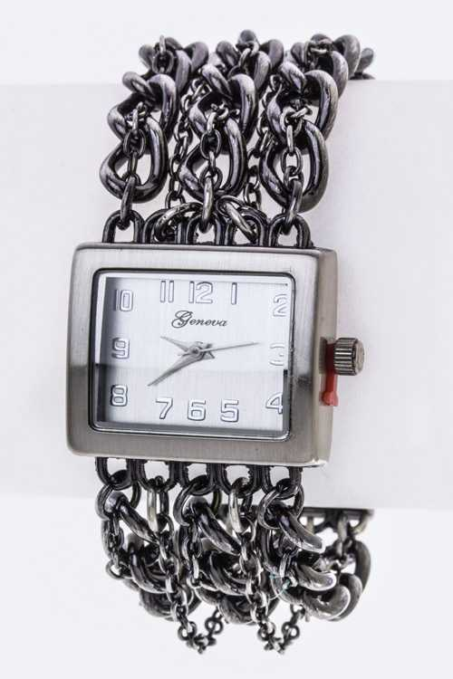 Layer Chians Bracelet Watch