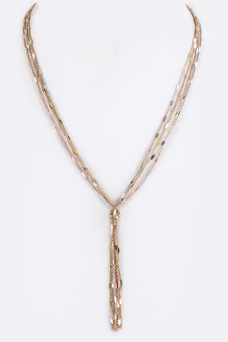 Mix Chain Knotted Necklace