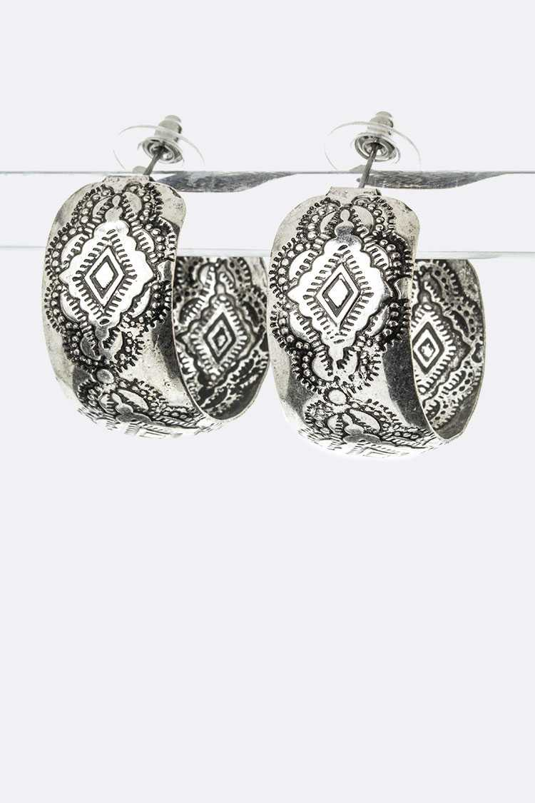 Tribal Embossed Earrings