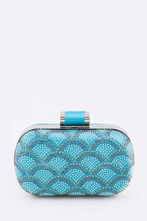 Art Deco Studded Statement Box Clutch